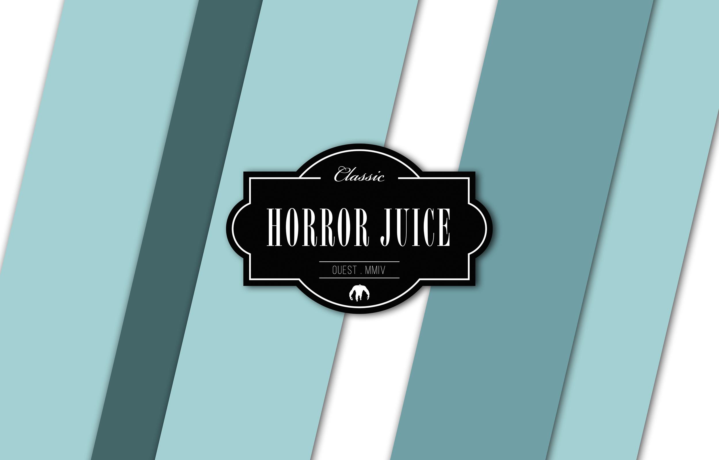 """Bandeau pour wordpress avec le logo Horror Juice fait pour la collection de planches de skate """"Primate"""""""