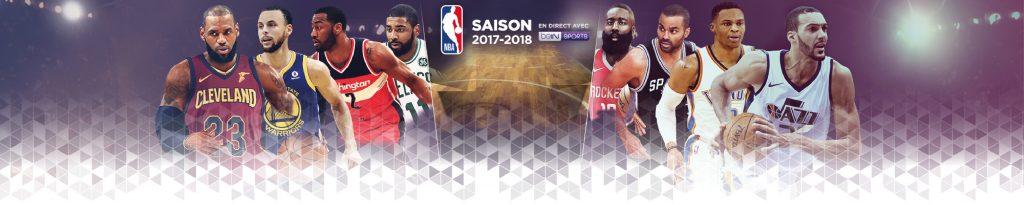 Bandeau intégré sur le site CGR Events pour habiller la page de la saison NBA 2017-2018.