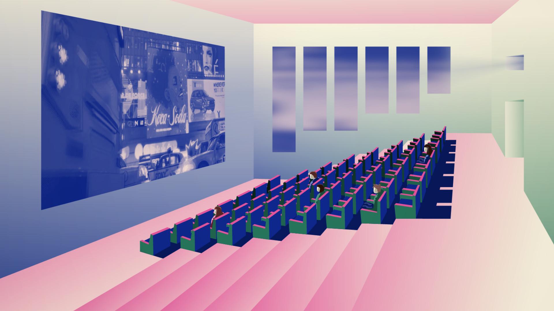 Illustration salle de cinéma