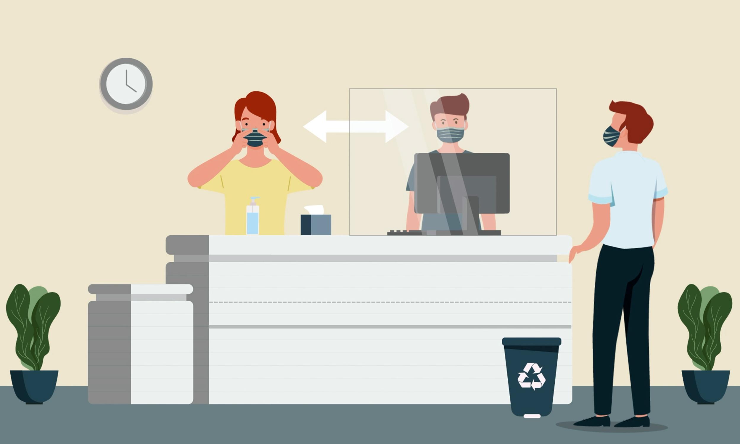 Animations hygiène sanitaire issues des vidéos en motion design pour le syndicat SNELAC